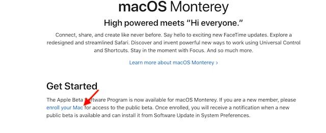 Registrieren Sie Ihren Mac - Installieren Sie macOS Monterey Public Beta
