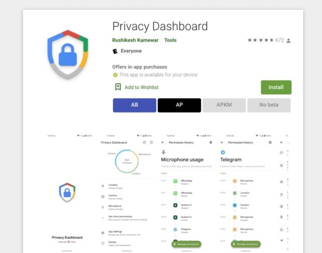 Holen Sie sich das Datenschutz-Dashboard auf dem Android-Handy