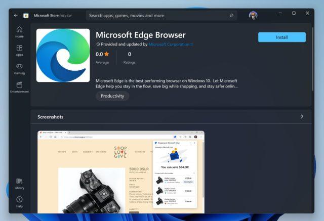 microsoft edge windows 11 - microsoft store