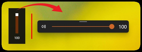 neue Lautstärkeleiste in Windows 10