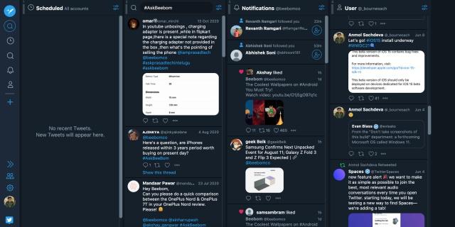 old tweetdeck design