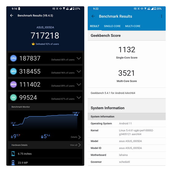 rog phone 5 benchmarks