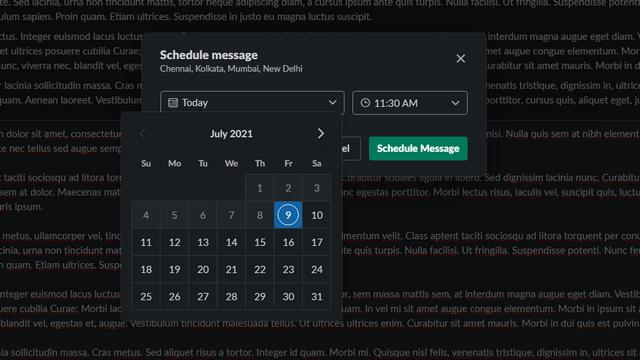 Benutzerdefinierten Zeitplan für Slack-Desktop festlegen