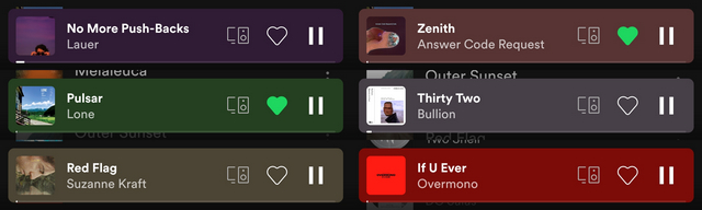 spotify mini player color variants