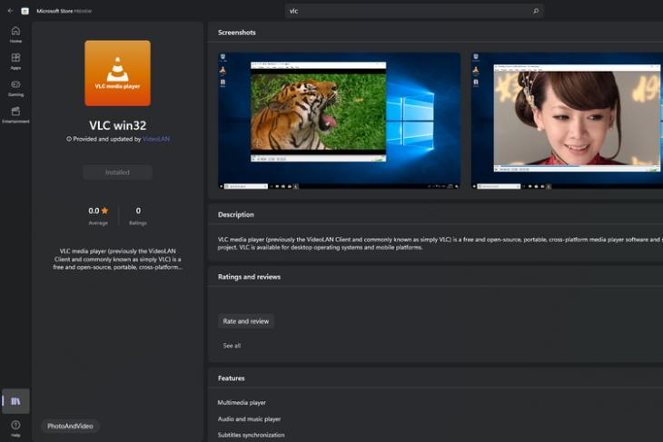 vlc player win32 ms store
