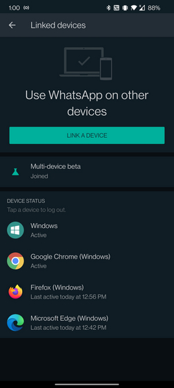 whatsapp multi-device linked devices