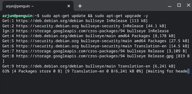 Update Linux on Chromebook to Debian Bullseye