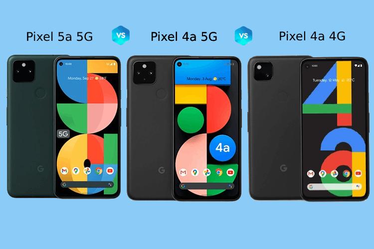 Google Pixel 5a vs pixel 4a 5G vs pixel 4a