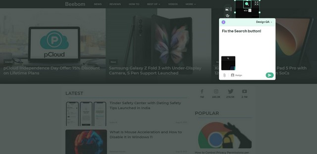 This Chrome Extension Lets Designers Comment on Design Bugs Right on a Website