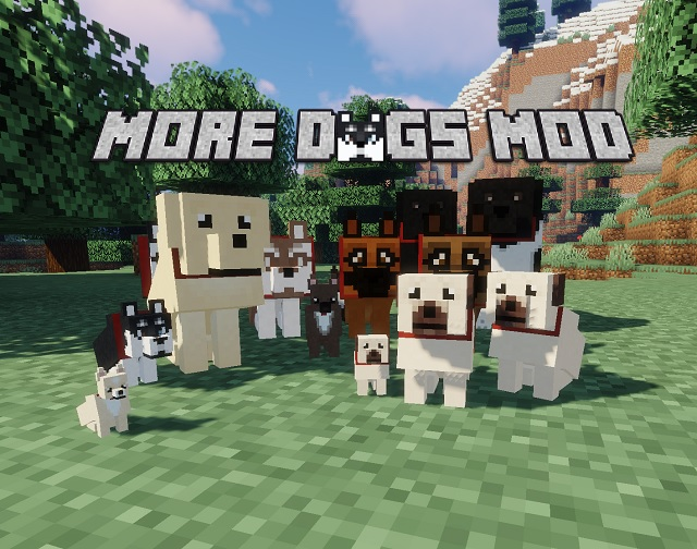 More Dogs mod for Minecraft