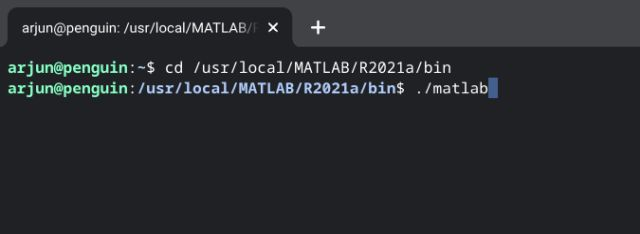 execute matlab from terminal