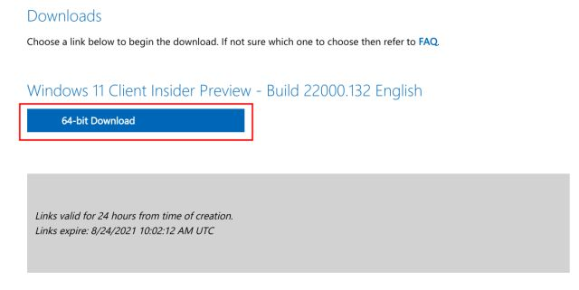 Download Windows 11 ISO Image from Microsoft's Website
