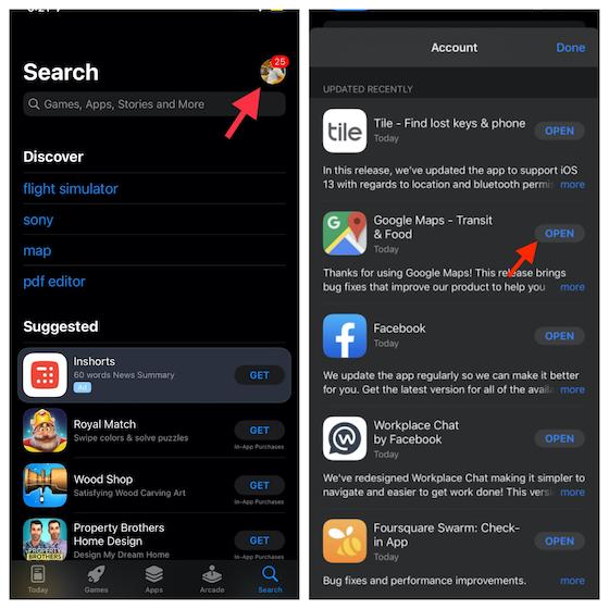 Обновите Google Карты на iPhone и iPad