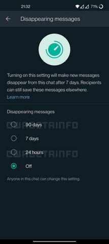 WhatsApp Might Add New 90-Day Option for Its Disappearing Messages Feature Soon