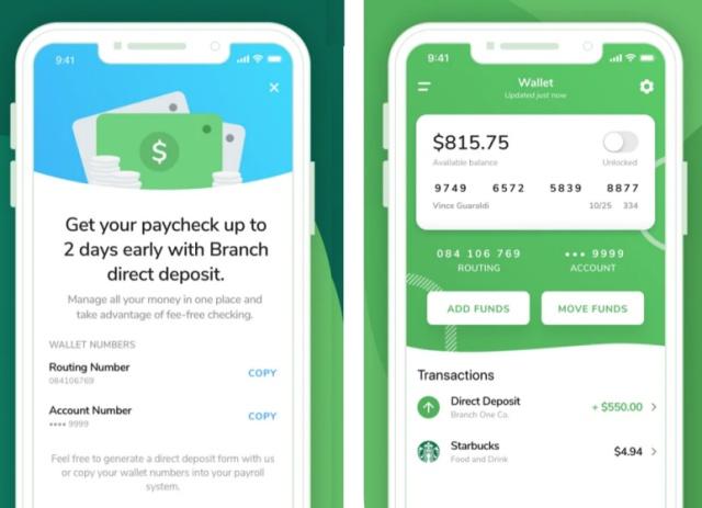 branch cash advance app like dave