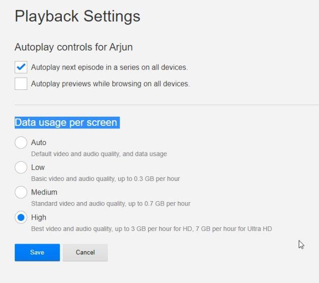 playback settings