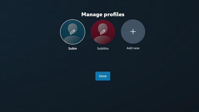 click on pencil icon prime video