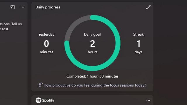 daily progress focus session