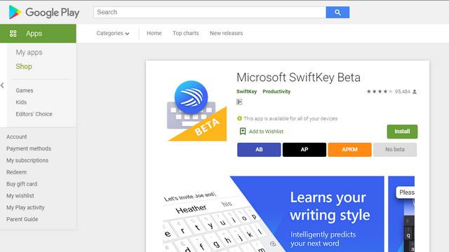 download swiftkey beta