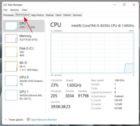 find ip address - task manager - windows 11 - 2