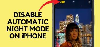 how to turn off automatic night mode on iphone