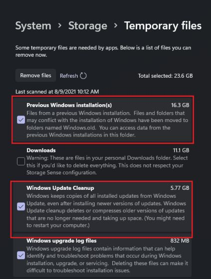 Free Up Disk Space After Upgrading to Windows 11 (2021)