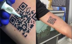 Italian Guy Gets a QR-Code Tattoo for His COVID-19 Vaccination Certificate