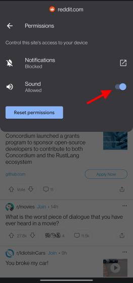 list of permissions