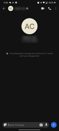 Signal Disappearing Messages description