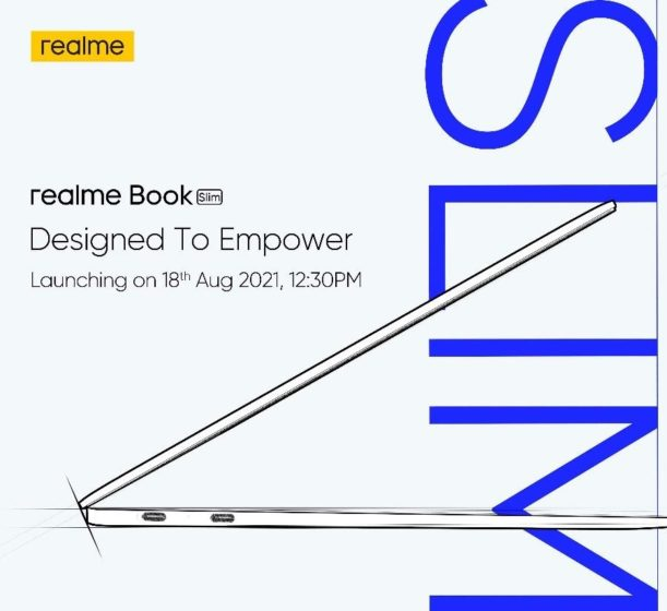 Realme Book Slim India Launch Set for August 18