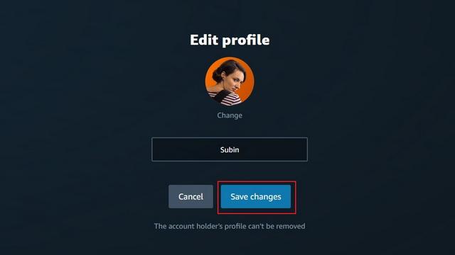 save changes amazon
