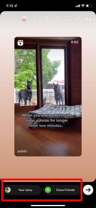 share instagram post to story og method step 3