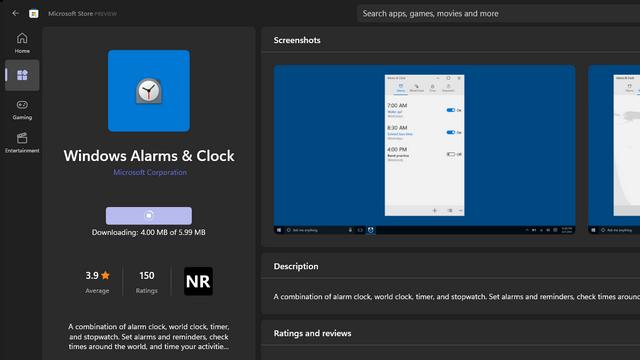 update alarms and clock app