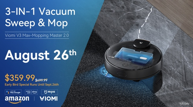 Viomi V3 Max Robot Vacuum: An Automatic Mop and Vacuum Robot for Your House