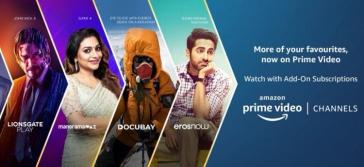 Amazon Prime Video channels launched in India