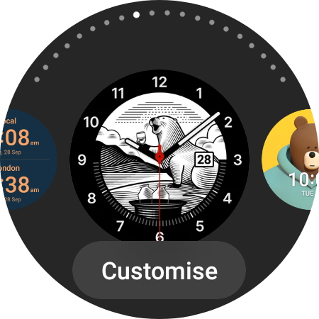 available watch faces