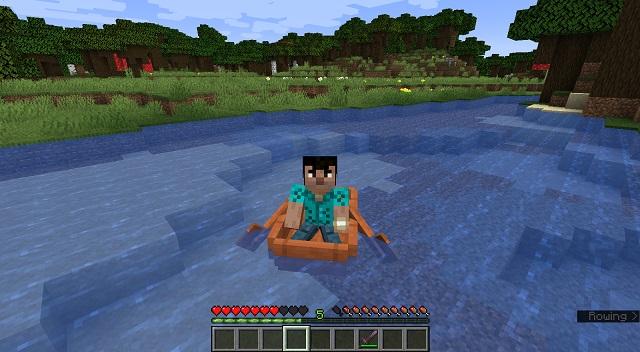 Boating in MC -build boat minecraft