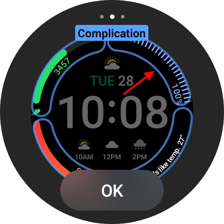 choose complication from menu