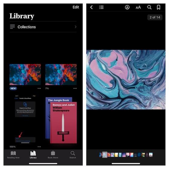 Convert photos into PDF using Apple Books app on iPhone and iPad