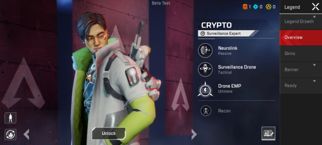Crypto apex legends characters
