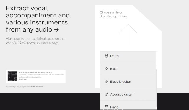 LALAL.AI's New Feature Lets You Separate and Isolate Musical Instruments from Songs