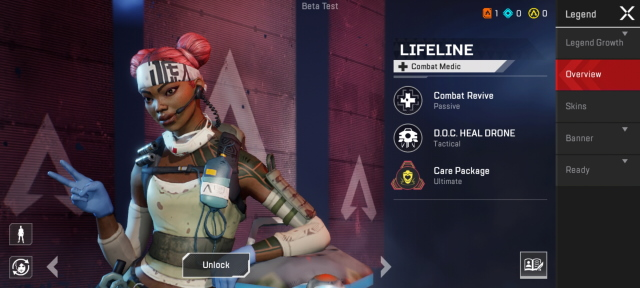 Lifeline apex legends characters
