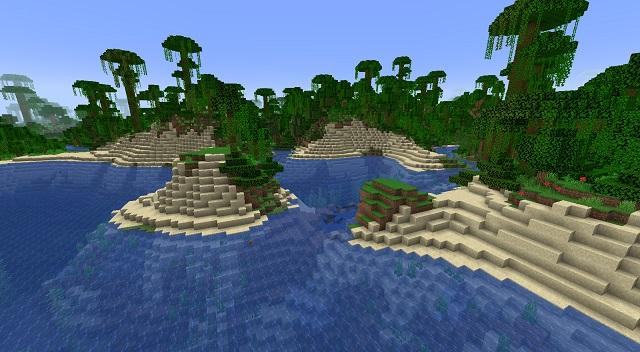 Minecraft Beach next to River