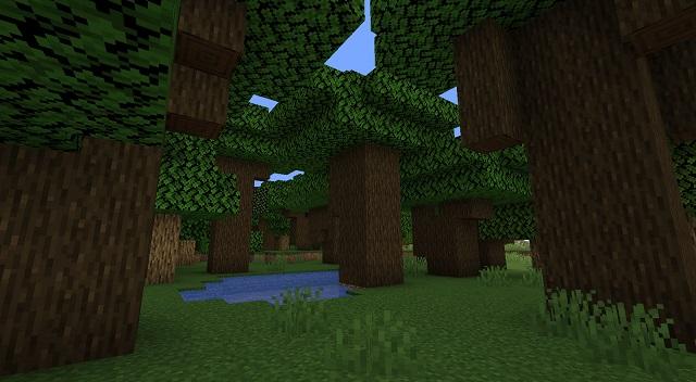 Minecraft Dark Forest Biome