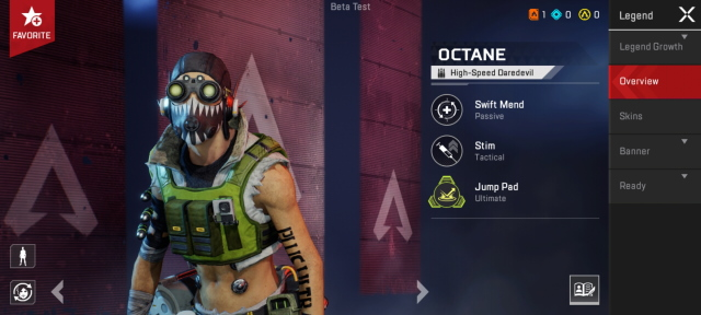 Octane apex legends mobile characters