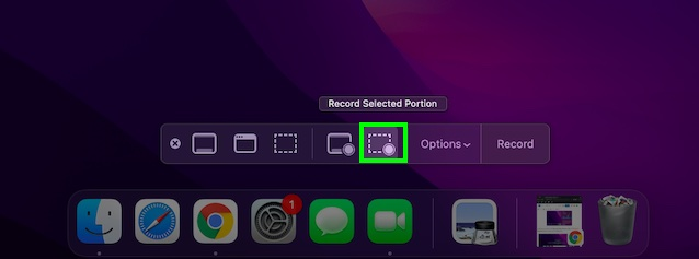 Record selected portion in QuickTime Player