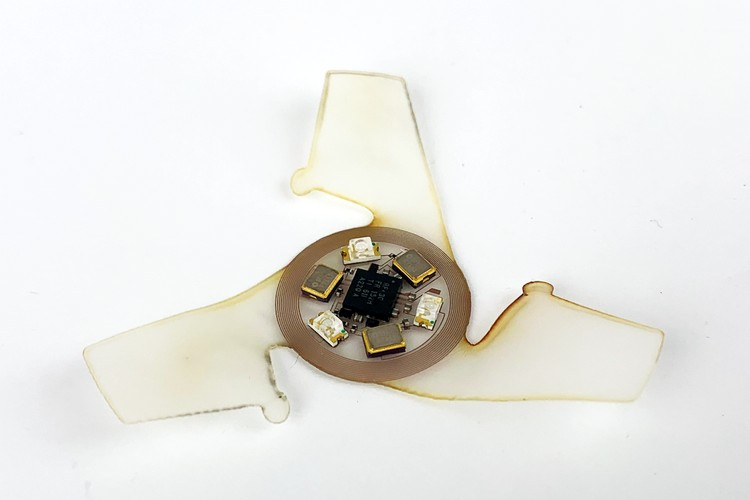 Scientists Develop Tiny Battery-Less Electronic Fliers to Collect Environmental Data
