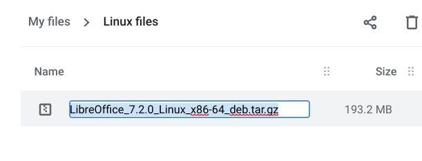 Install tar.gz File on a Chromebook