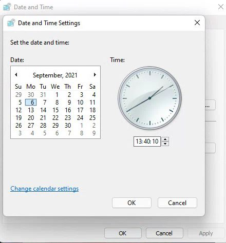 Disable Time and Date Syncing