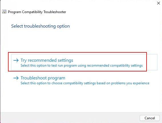 Kompatibilitäts-Fehlerbehebung